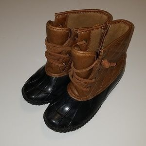 Children's Duck Boots Stevies Brand Quilted GUC
